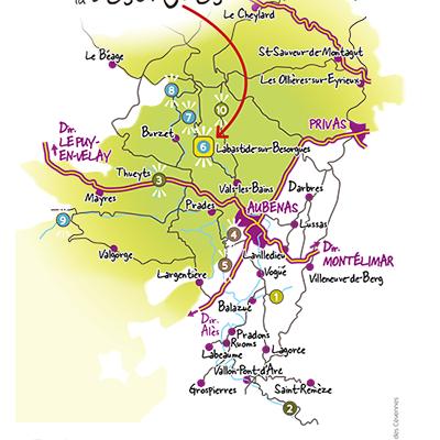 Kartenübersicht der Spots