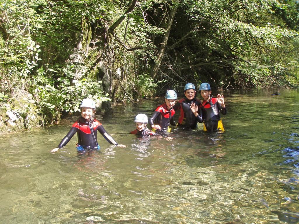 Canyon mini descente, descente canyoning, descente en tyrolienne: Canyon Besorgues