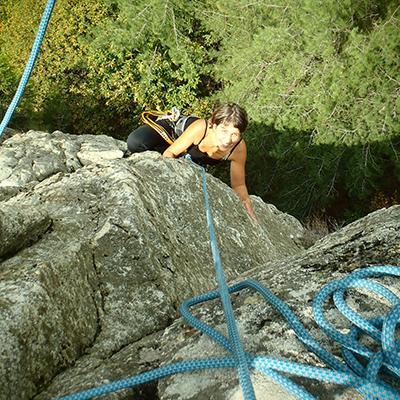 Escalade en Ardèche, près de Vals les Bains et Aubenas