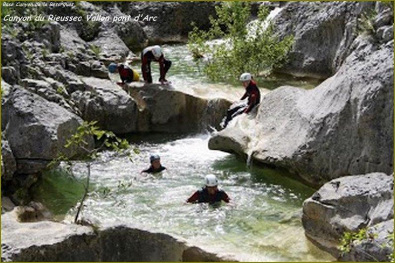 Canyon du Rieussec, canyoning à Vallon Pont d'Arc, Activités à Vallon Pont d'Arc : Canyon Besorgues